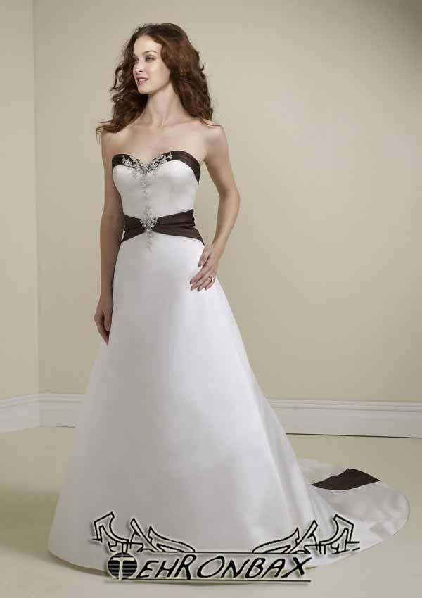 Black with White Wedding Dress
